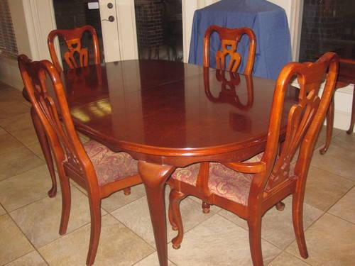 cherry queen anne dining room set for sale in prosper texas