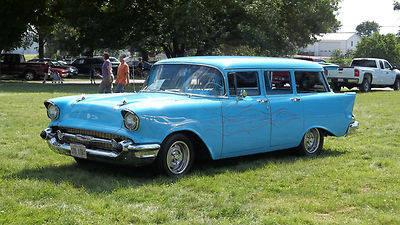 1957 chevrolet 4 door wagon blue for sale in rock falls for 1957 chevy 4 door wagon for sale