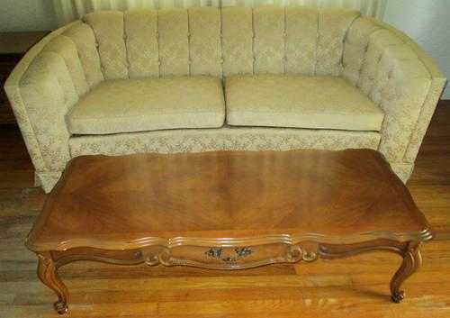 Vintage French Provincial Coffee Table and End Tables Living Room Set