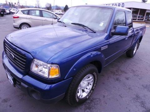 2009 FORD RANGER 4 DOOR EXTENDED CAB LONG BED TRUCK