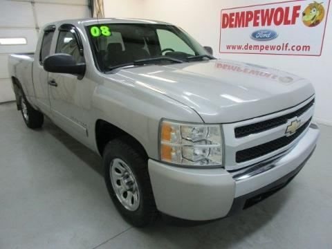 2008 Chevrolet Silverado 1500 4 Door Extended Cab Short Bed Truck