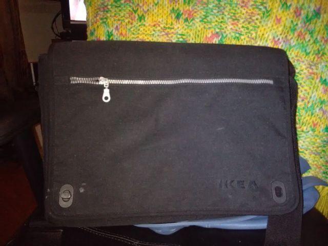 Large Black Ikea Fabric Computer Bag