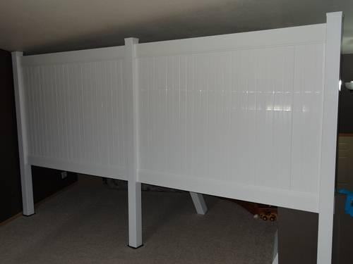 Extra Heavy Commercial Grade Vinyl Fence 6x8 Privacy w/ Posts/caps