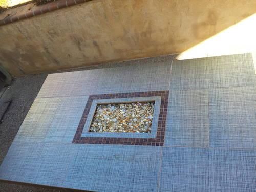 Beautiful Copper Tile Patio Firetable for sale.