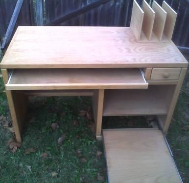 Solid Wood Unpainted Computer Desk for Sale or Trade -REDUCED!