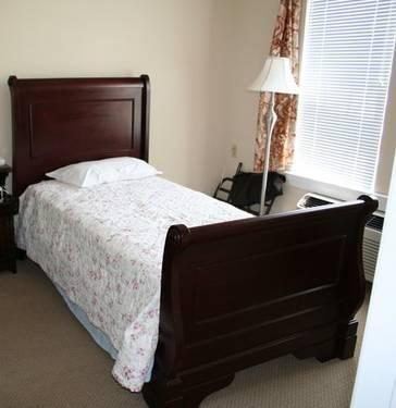 Full size solid wood bed frame, mattress, and box springs