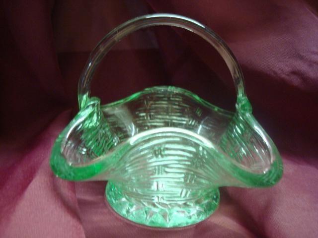 Indiana Carnival Glass Basket.