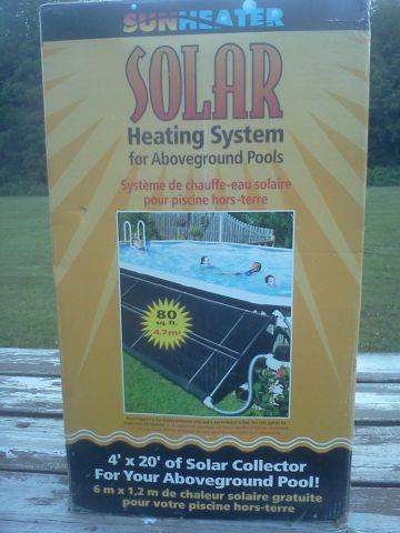 SunHeater Solar heating system