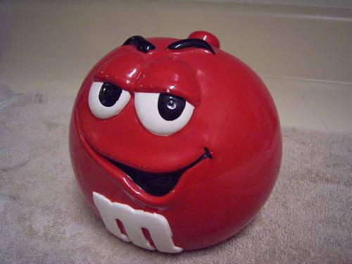M M Candy Cookie Jar Collectible Mr Red For Sale In
