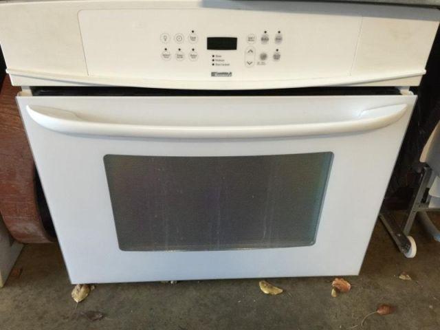 MAKE OFFER White kitchen appliances Kenmore Wall Oven College fridge