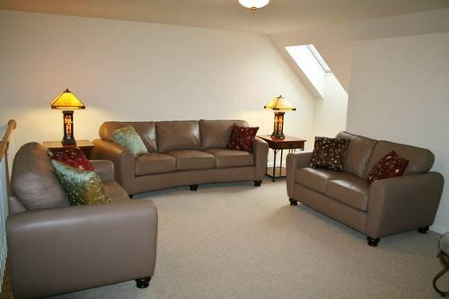 LEATHER SOFA AND TWO LOVES SEATS SET