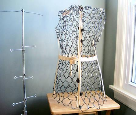 1940 39 S 50 39 S Wire Mesh Dress Form Mannequin French Home Shop Decor For Sale In Vancouver