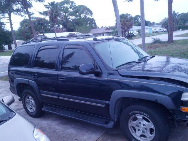 2004 Chevy Tahoe LT, 2wd, 164K mi., newer tires, front damage.