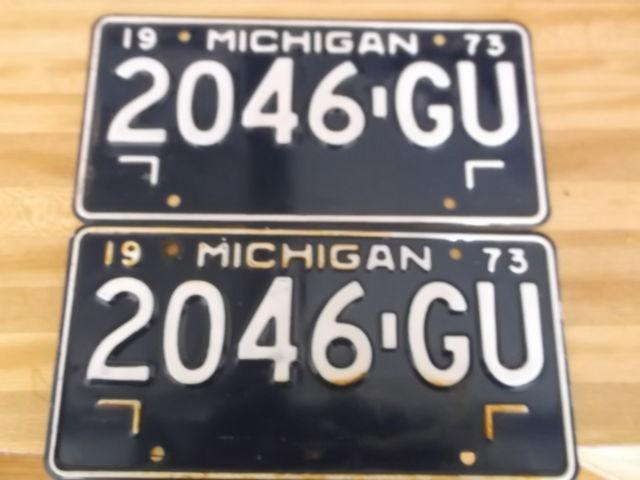 Sets of 1973 un-issued Michigan License Plates