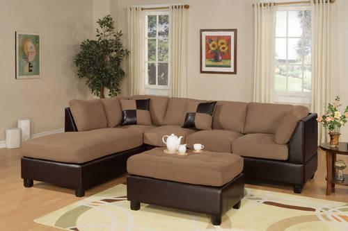 Sectional sofa microfiber