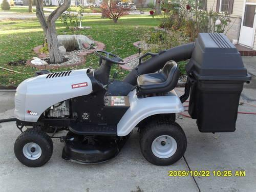 Craftsman Double Bagger : Craftsman lt riding lawn mower twin bagger