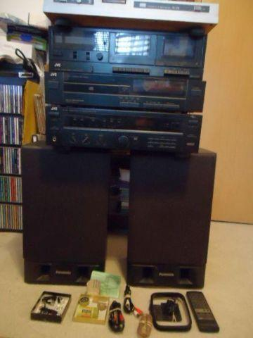 JVCDoubleCassette/CompactDisk/Receiver/SansuiTurntable/speakers/coards