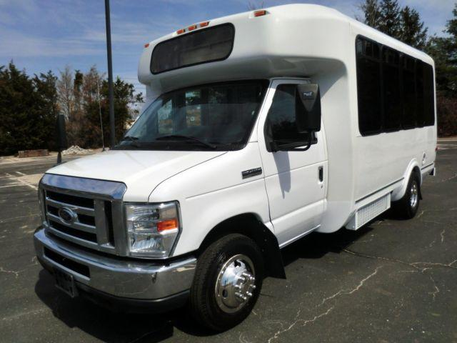 2012 Ford E450 14 Passenger Non-CDL Shuttle Bus For Sale!