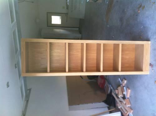 Built in oak shelves