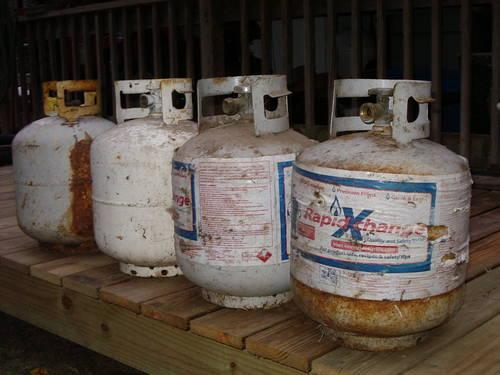 4 Propane Tanks 15.00 each or 30.00 for all
