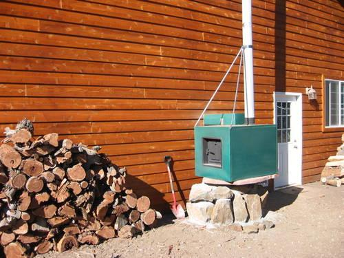 Wood Heat for your home or shop sits outdoors!