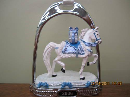 Breyer 2006 Snow Princess Stirrup Ornament. Eighth in a Series