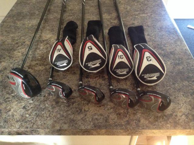 Slazenger golf clubs complete set P-9 putter 3,3i,4i,5,Driver and bag
