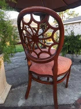 2 VERY ORNATE SWIRL BACK PARLOR CHAIRS EARLY 1900'S