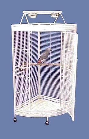 Honolulu Hideaway Playtop Corner Parrot Cage in BLACK