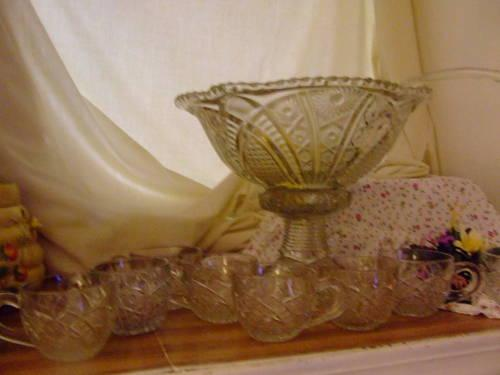 1901 NOTHERN STAR PATTERN PUNCH BOWL