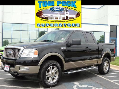 2005 ford f 150 super cab pickup 4x4 lariat supercab 4x4 for sale in huntley illinois. Black Bedroom Furniture Sets. Home Design Ideas