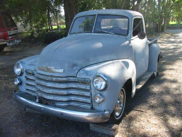 1950 chevy 3100 shortbox pickup Runs and drives