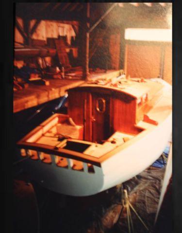 boat sailing wood Cy Hamlin ''pied piper sloop volvo diesel ,