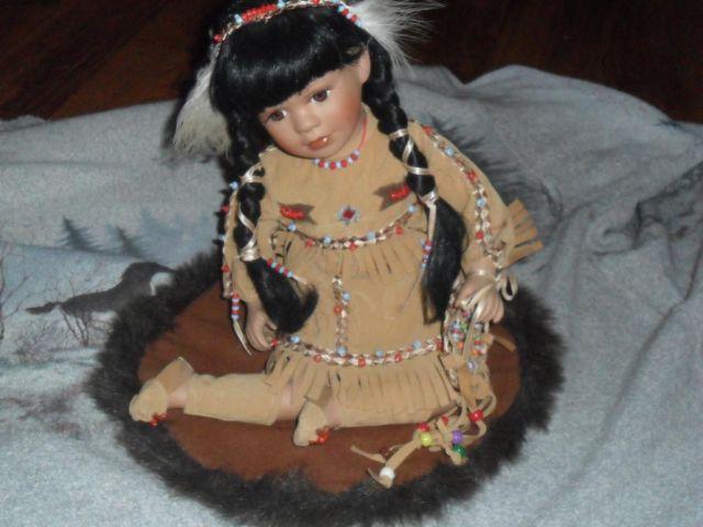 Ashley Belle Native Amer Indian porcelain dolls.,Wall art ,more