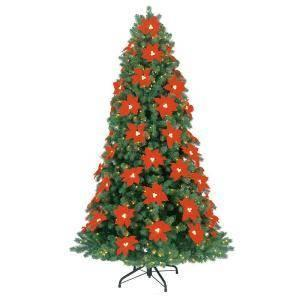New Martha Stewart 7ft Pointsetta Spruce Prelit 650 lights Christmas T