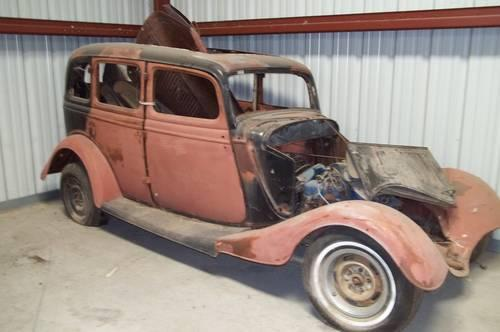 "1934 Ford 4dr Sedan, Project Car ""Clean"" for Sale in Hollister"