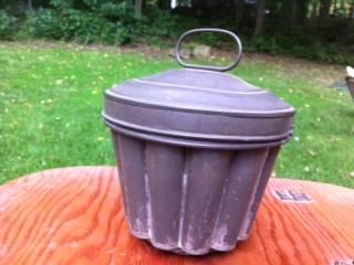 Vintage Tin Pudding Mold