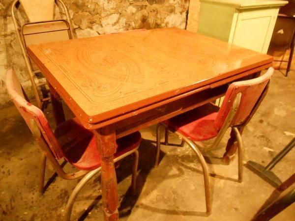 RARE Kitchen Table !! Antique Retro Metal Kitchen Table