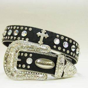 4 WOMEN'S WESTERN STYLE RHINESTONE BELTS FOR SALE!!