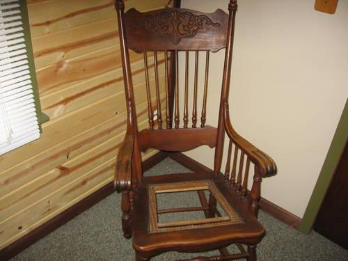 old wooden rocking chair for Sale in La Porte, Indiana Classified ...