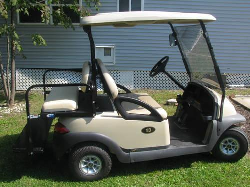 04 club car precedent with roof and windshield gas
