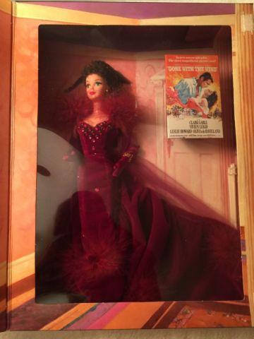 1994 Gone with the Wind Barbie Scarlett O'Hara in Green Drapery Dress