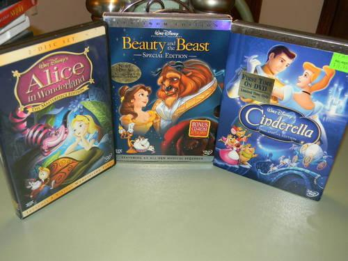 Walt Disney kids DVD's LIKE NEW No Scratches Many back in the vault