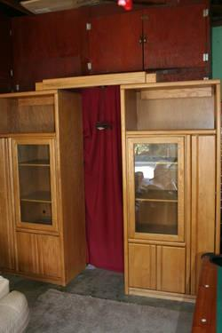 Oak Entertainment Center (must see) OR BEST OFFER