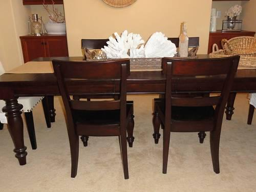 Pottery Barn Dining Chairs Set Of Six Mahogany For Sale In