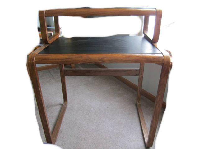 Oak & Slate Desk