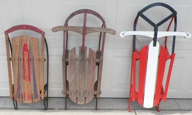 Vintage Wood Sleds