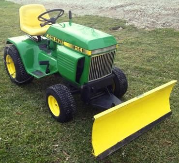 214 John Deere with Mower Deck , Snow plow and chains ! Just serviced