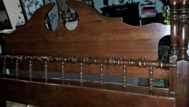 King Headboard and Footboard, Solid wood 4 poster