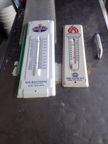 A Pair of Standard Oil Thermometer